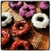 raw iced donuts with 3 flavours - berry, cacao and coconut thumbnail