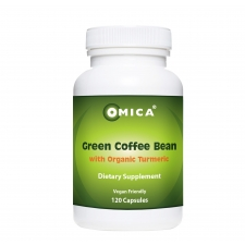 green coffee bean with organic turmeric