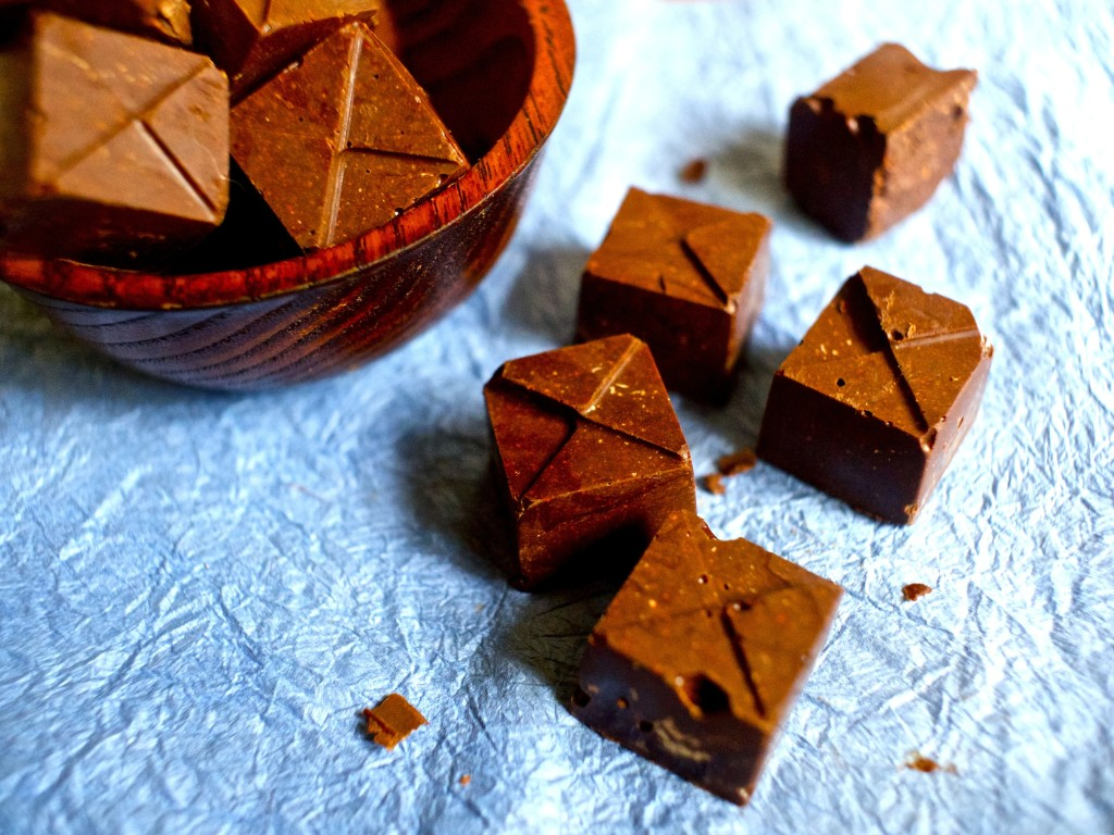 raw vegan hazelnut fudge