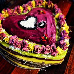 special girl's raw cake