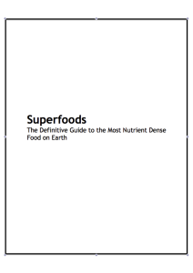 superfoods cover