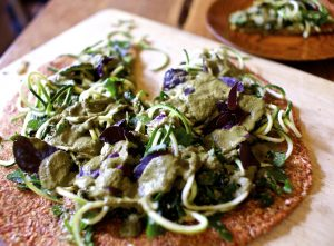 how to make raw pizza